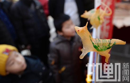 """邯郸:传统庙会狗年观""""萌犬""""(组图)"""